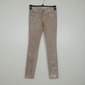 Rich & Skinny Metallic Coated Jeggings 26 #3230
